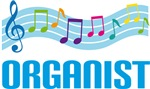 Colorful Organist Music Staff T-shirts