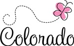 Pink Butterfly Colorado T-shirts and Gifts