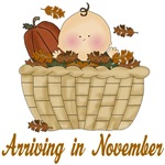 Autumn Baby November Maternity Announcement