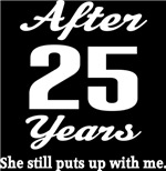 Funny 25th Anniversary Quote T-shirts and Hoodies