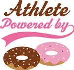 Athlete Powered By Doughnuts Gift T-shirts