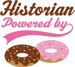 Historian Powered By Doughnuts Gift T-shirts