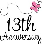 13th Anniversary Pink Butterfly Keepsake Gifts