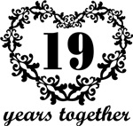 19th Anniversary Heart Gifts Together