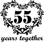 55th Anniversary Heart Gifts Together