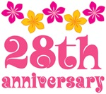 28th Anniversary Gift Hawaiian Themed
