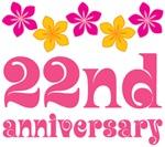 22nd Anniversary Gift Hawaiian Themed