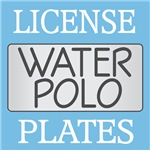 WATER POLO LICENSE PLATE FRAMES