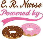 E.R. Nurse Powered By Doughnuts Gift T-shirts