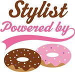 Stylist Powered By Doughnuts Gift T-shirts