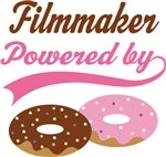 Filmmaker Powered By Doughnuts Gift T-shirts