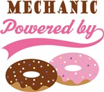 Mechanic Powered By Doughnuts Gift T-shirts