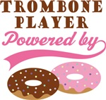TROMBONE PLAYER POWERED BY DONUTS T-shirts