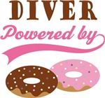 Diver Powered By Donuts Gift T-shirts