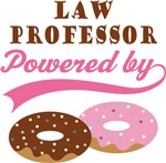 Law Professor Powered By Donuts Gift T-shirts