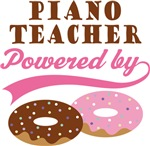 Piano Teacher Powered By Donuts Gift T-shirts