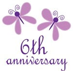 6th Anniversary Gift Purple Butterfly