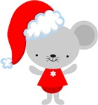 Cute Christmas Santa Mouse Gifts and Apparel