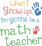 Future Math Teacher Kids T-shirts