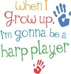 Future Harp Player Kids T-shirts