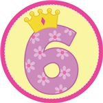 Princess 6th Birthday Crown T-shirts