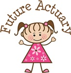 Future Actuary Stick Girl Occupation T-shirts