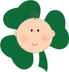 Green Shamrock Irish Baby T-shirts
