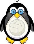 Volleyball Penguin Kids Tee Shirts