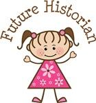 Future Historian Stick Girl Occupation T-shirts