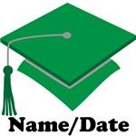 Personalized Green School Graduation Apparel