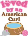 Loved By An American Curl Tshirt Gifts