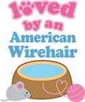 Loved By An American Wirehair Cat T-shirts