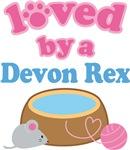 Loved By A Devon Rex Cat T-shirts