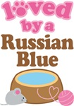 Loved By A Russian Blue Tshirt Gifts