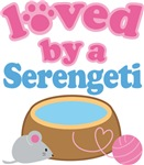 Loved By A Serengeti Cat T-shirts