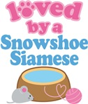 Loved By A Snowshoe Siamese Cat T-shirts
