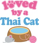 Loved By A Thai Cat T-shirts