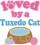 Loved By A Tuxedo Cat T-shirts