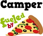 CAMPER Funny Fueled By Pizza T-shirts
