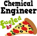 CHEMICAL ENGINEER Funny Fueled By Pizza T-shirts
