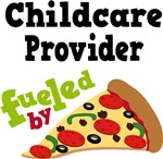 Childcare Provider Funny Fueled By Pizza Tshirts