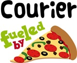 COURIER Funny Fueled By Pizza T-shirts