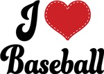 I Heart Baseball T-shirts and Gifts