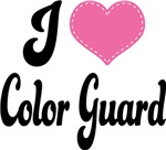 I Heart Color Guard T-shirts and Gifts