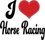 I Heart Horse Racing T-shirts and Gifts