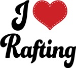 I Heart Rafting T-shirts and Gifts