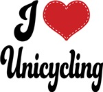 I Heart Unicycling T-shirts and Gifts
