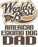 American Eskimo Dog Dad (Worlds Best) T-shirts