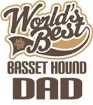 Basset Hound Dad (Worlds Best) T-shirts