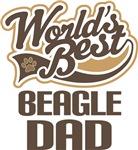Beagle Dad (Worlds Best) T-shirts
